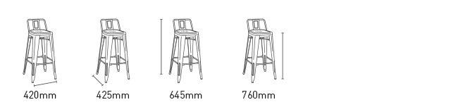 EON BARSTOOL SMALL WITH BACK