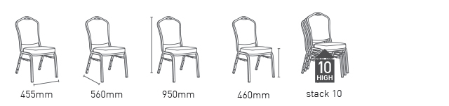 PLAZA Chair Aluminium frame