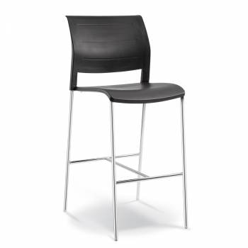 CONNECT BARSTOOL Polyprop - Connect bar pp Black
