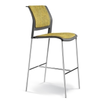 CONNECT BARSTOOL UPHOLSTERED SEAT & BACK