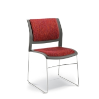 CONNECT Chair Sleigh Upholstered seat & back