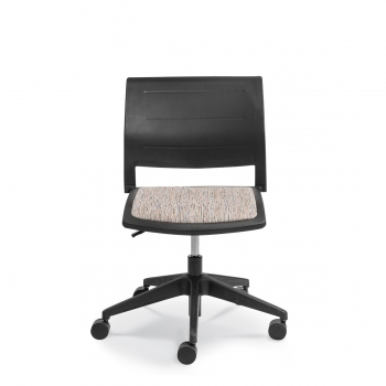 CONNECT SWIVEL Upholstered seat Polyprop back - Connect swivel Uphol seat